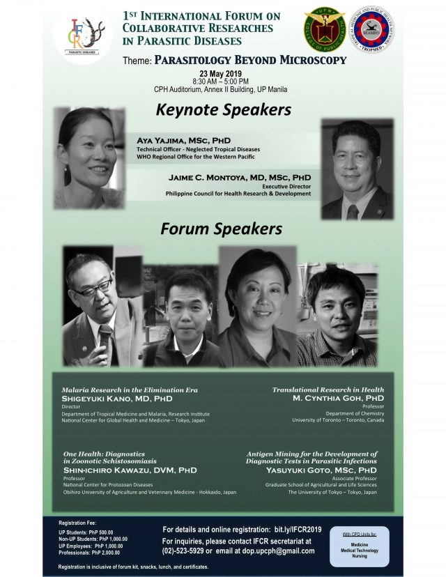 Prof  Shin-ichiro Kawazu was invited to the 1st International Forum