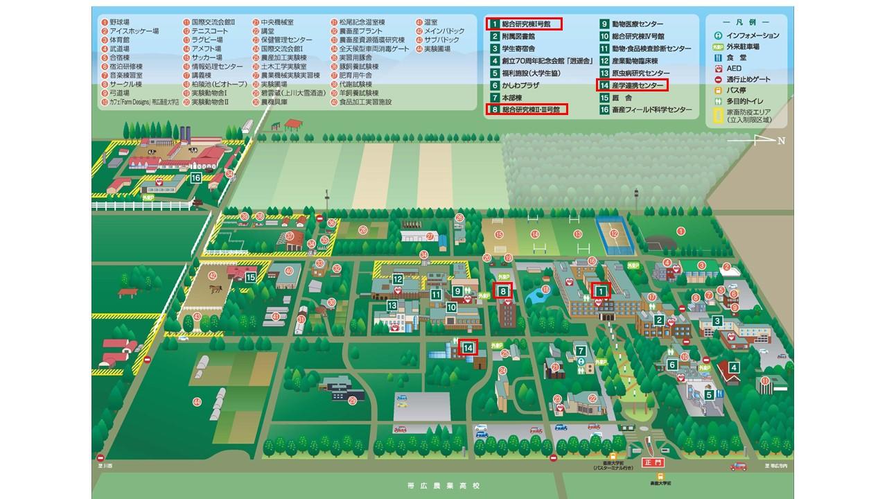 キャンパスマップの表示